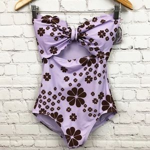 Kate Spade Scalloped One Pc Floral Swimsuit S